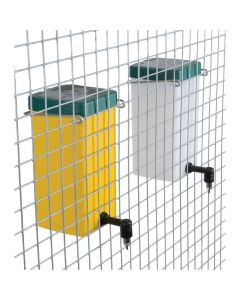 Drinkfles met klapdeksel 1L geel, met bevestigingsbeugel